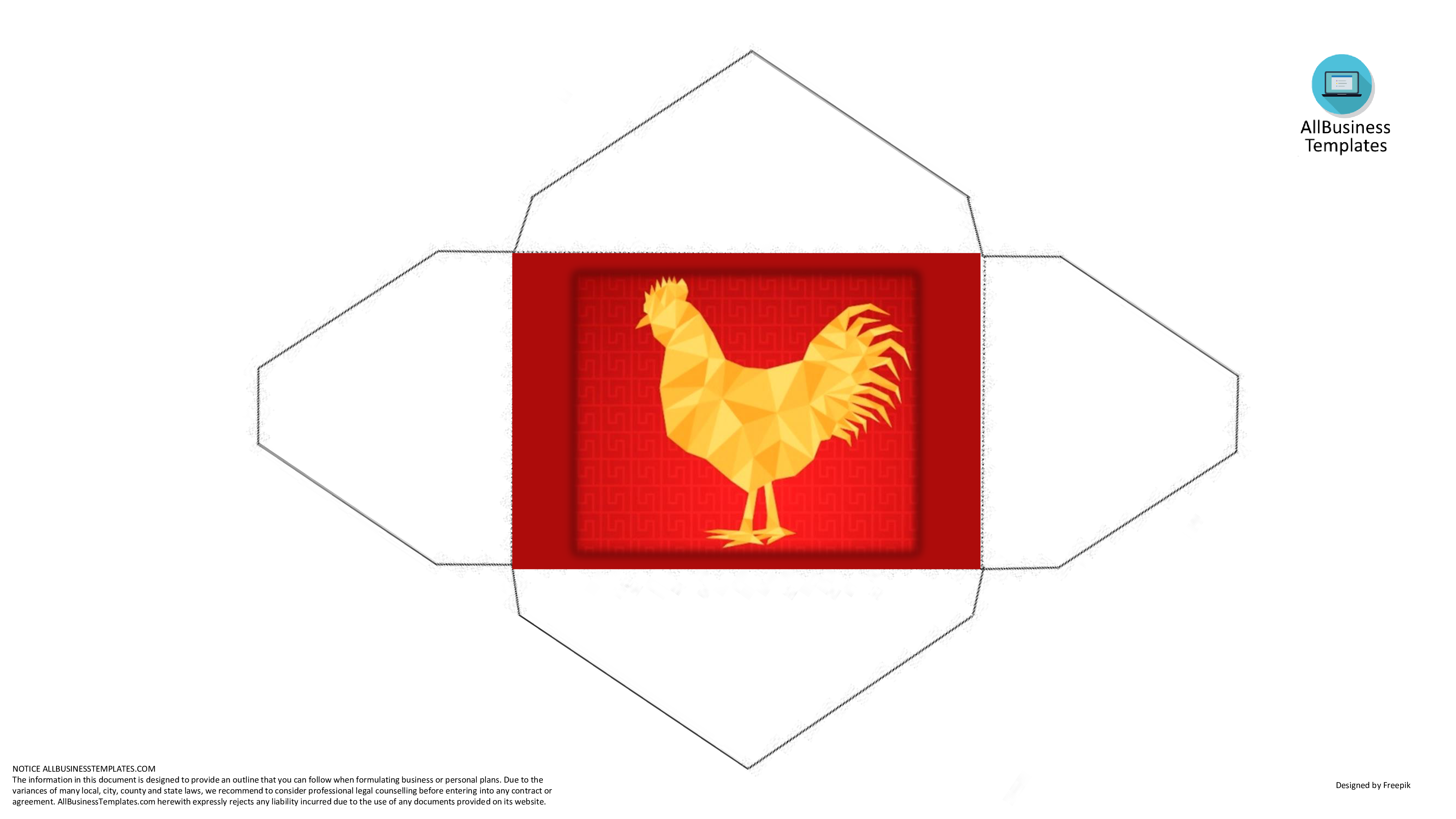 Rooster Hongbao Template For Spring Festival   Download This