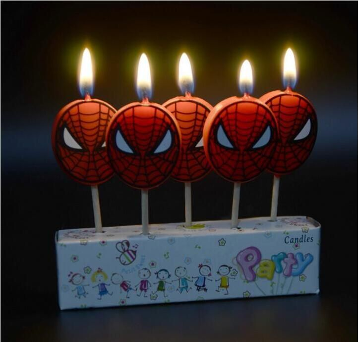 5pcs Lot Spiderman Party Supplies Kids Birthday Candles Evening Decorations Set Wedding Cake Yesterdays Price US 144 125
