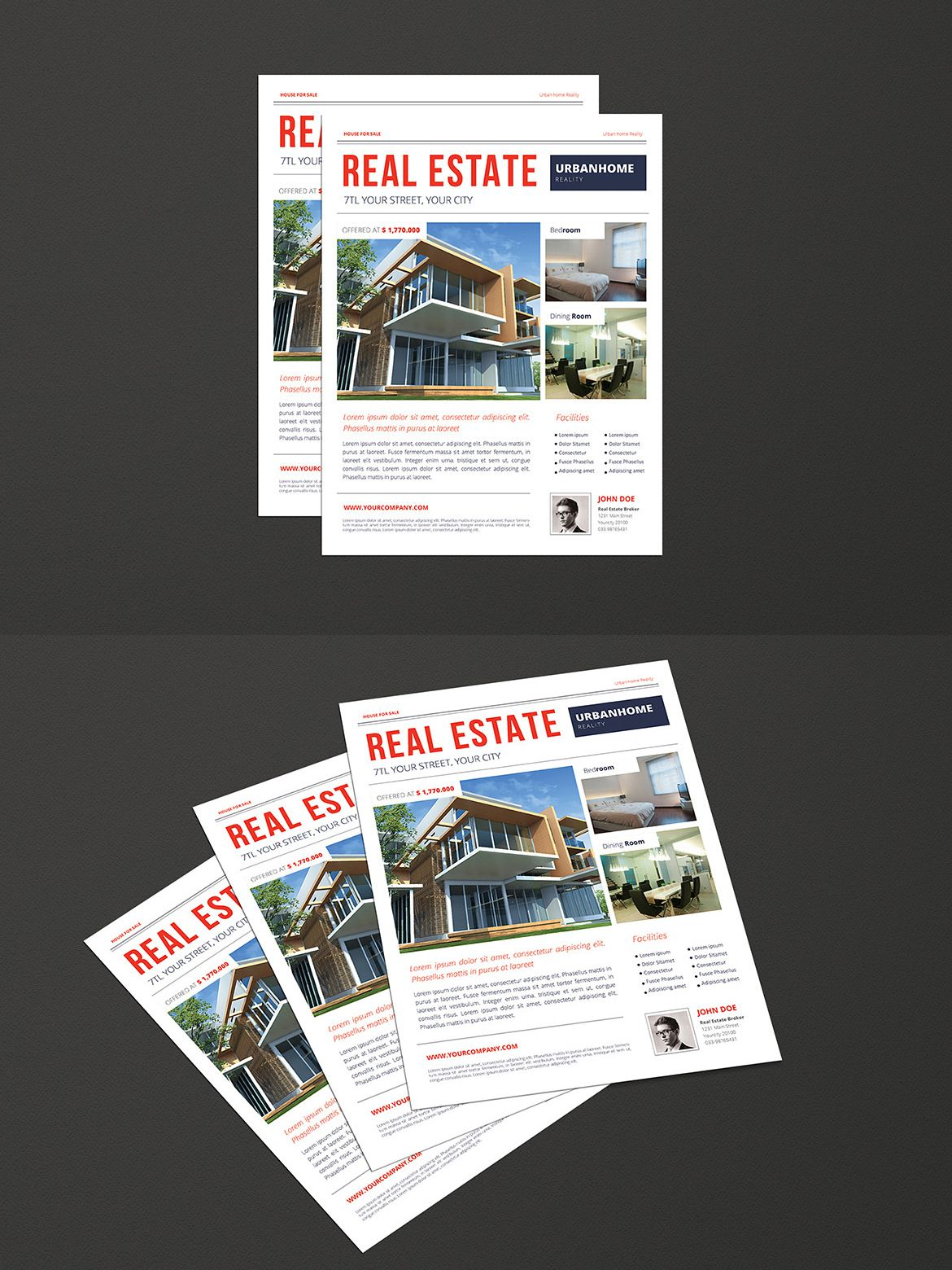 urban real estate flyer template ai psd flyer templates