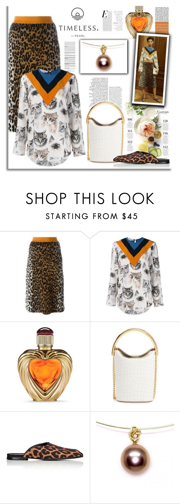 """""""Bronze Treasure Pearl Pendant"""" by timelesspearl ❤ liked on Polyvore featuring STELLA McCARTNEY, Martha Stewart and Victoria's Secret"""