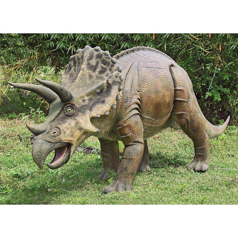 Design Toscano Jurassic Sized Triceratops Dinosaur Statue | From  Hayneedle.com
