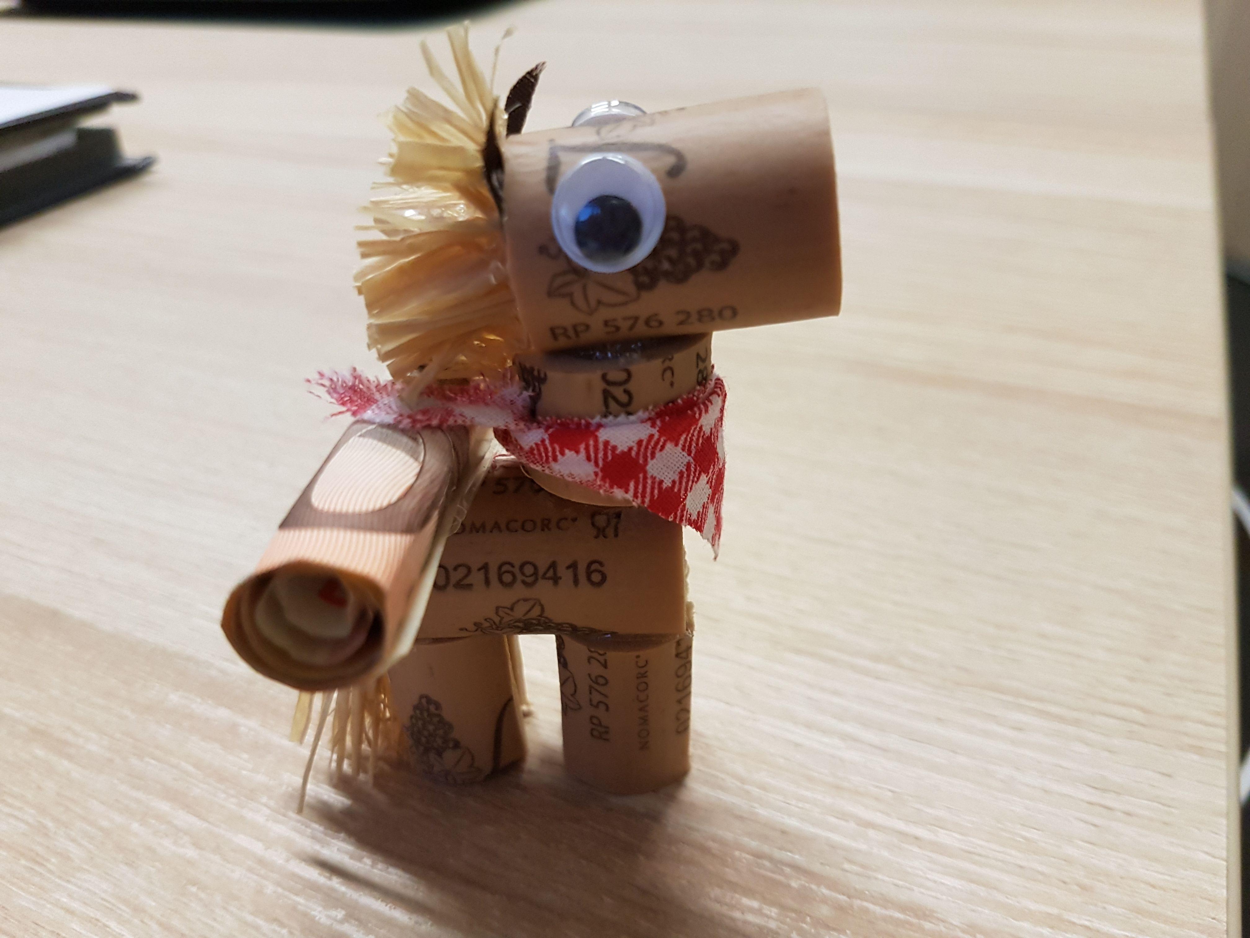 Geldgeschenk Fur Reitstunden Pferd Aus Korken Made By Me Diy