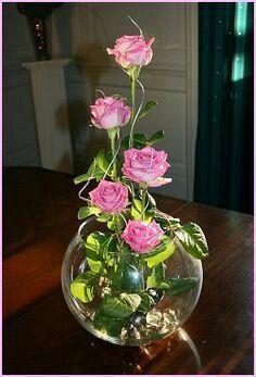 Hermosos Centros De Mesa De Flores En Peceras Flower Arrangements