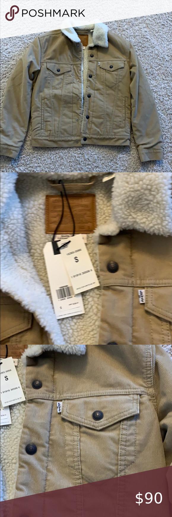 Levi S Beige Jean Jacket Brand New Beige Jeans Jacket Brands Jean Jacket [ 1740 x 580 Pixel ]