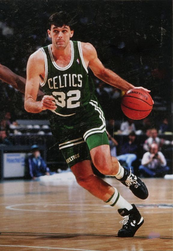 Kevin McHale, who played for the Boston Celtics from 1980 to 1993.  Some of the greatest post moves ever.