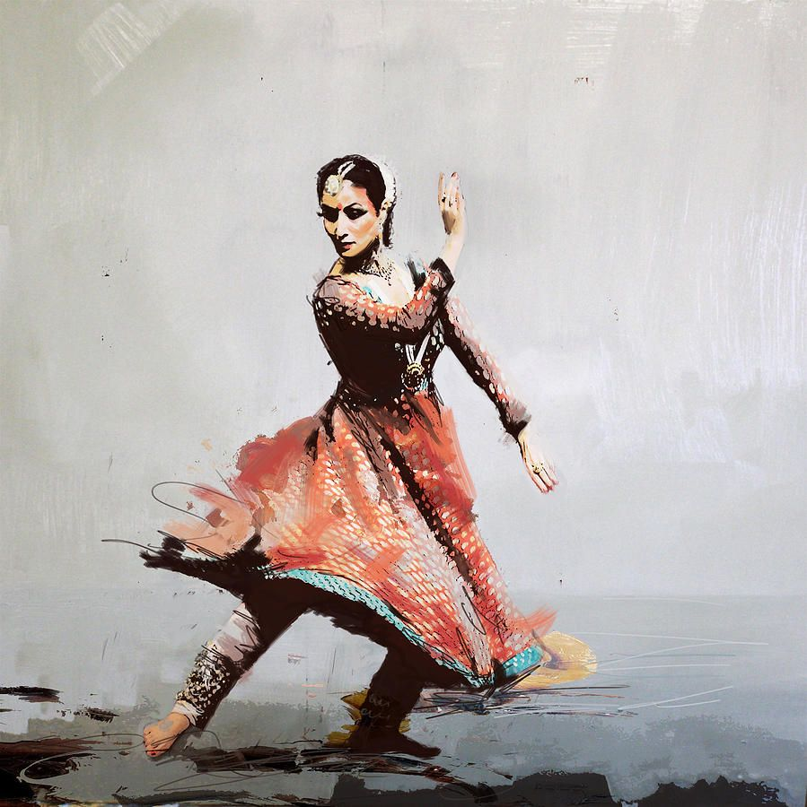 Classical Dance Art 11 Painting   The Creative   Pinterest ... for Abstract Painting Of Indian Dancers  181obs