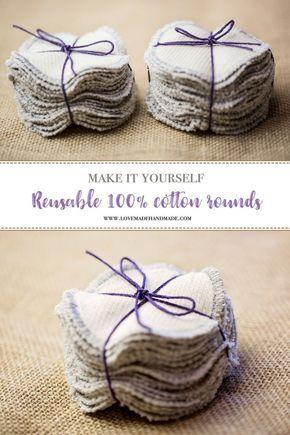Photo of Runden aus 100% Baumwolle – Machen Sie es sich selbst! – Lovemade Handmade