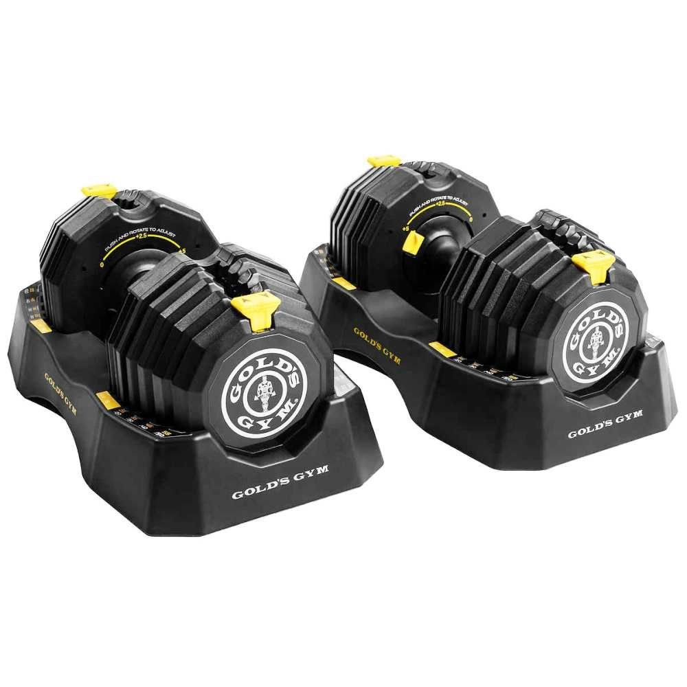 Golds gym 110 lb selectaweight dumbbell set with