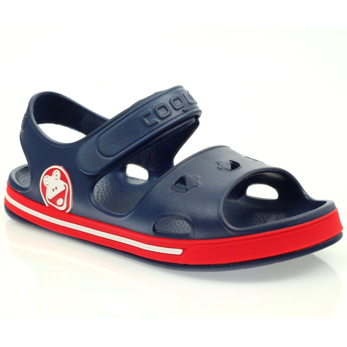 Sandalki Dzieciece Dla Dzieci Innamarka Sandalki Do Wody Zabka Coqui Granatowe Kid Shoes Princess Shoes Pink Shoes