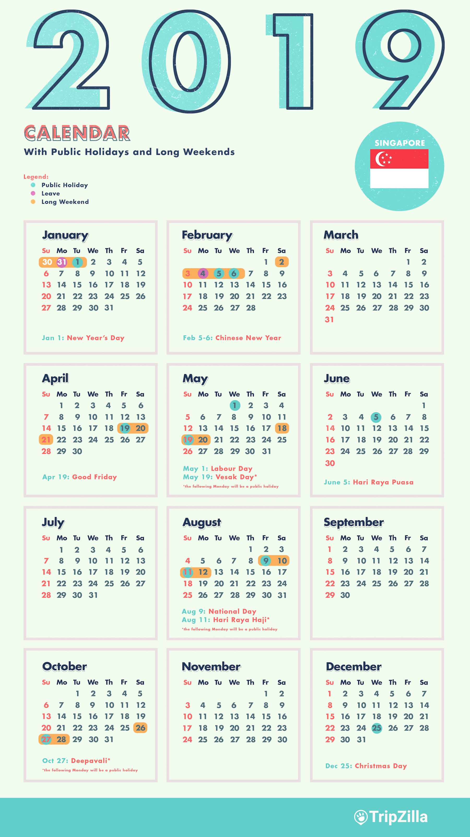 2019 Chinese New Year Calendar Singapore In 2020 National Day Calendar Chinese New Year Calendar New Year Calendar