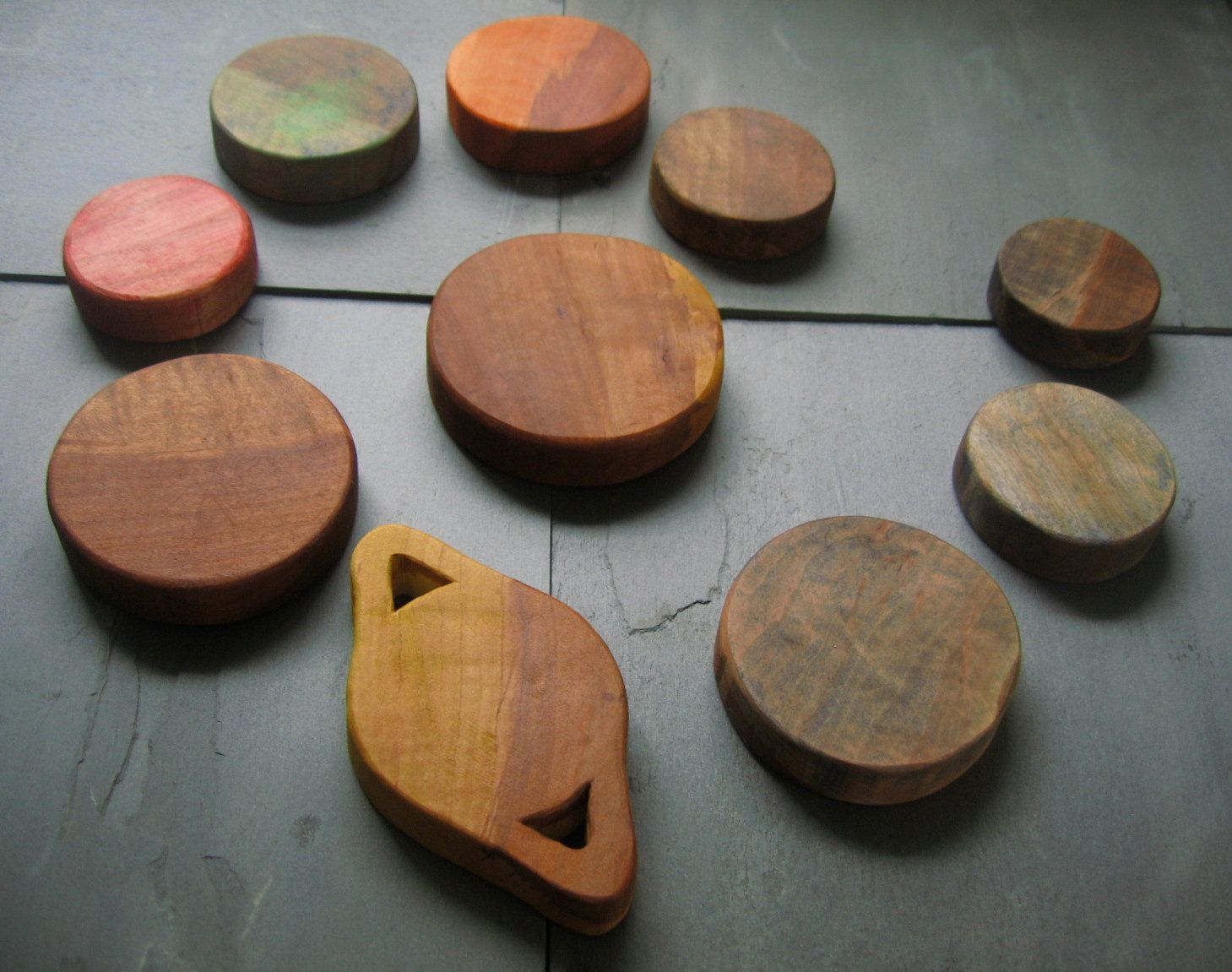 Maple, Organic, Non-Toxic, Wooden Coloured Solar System for Infants, Toddlers, or Older Kids  - From Janeville Woods