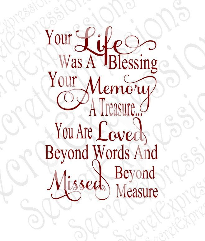 Grandma Quotes Discover Your Life was a Blessing Your Memory a Treasure Svg Sympathy svg file Digital File DXF EPS Png Jpg Cricut Silhouette Print File