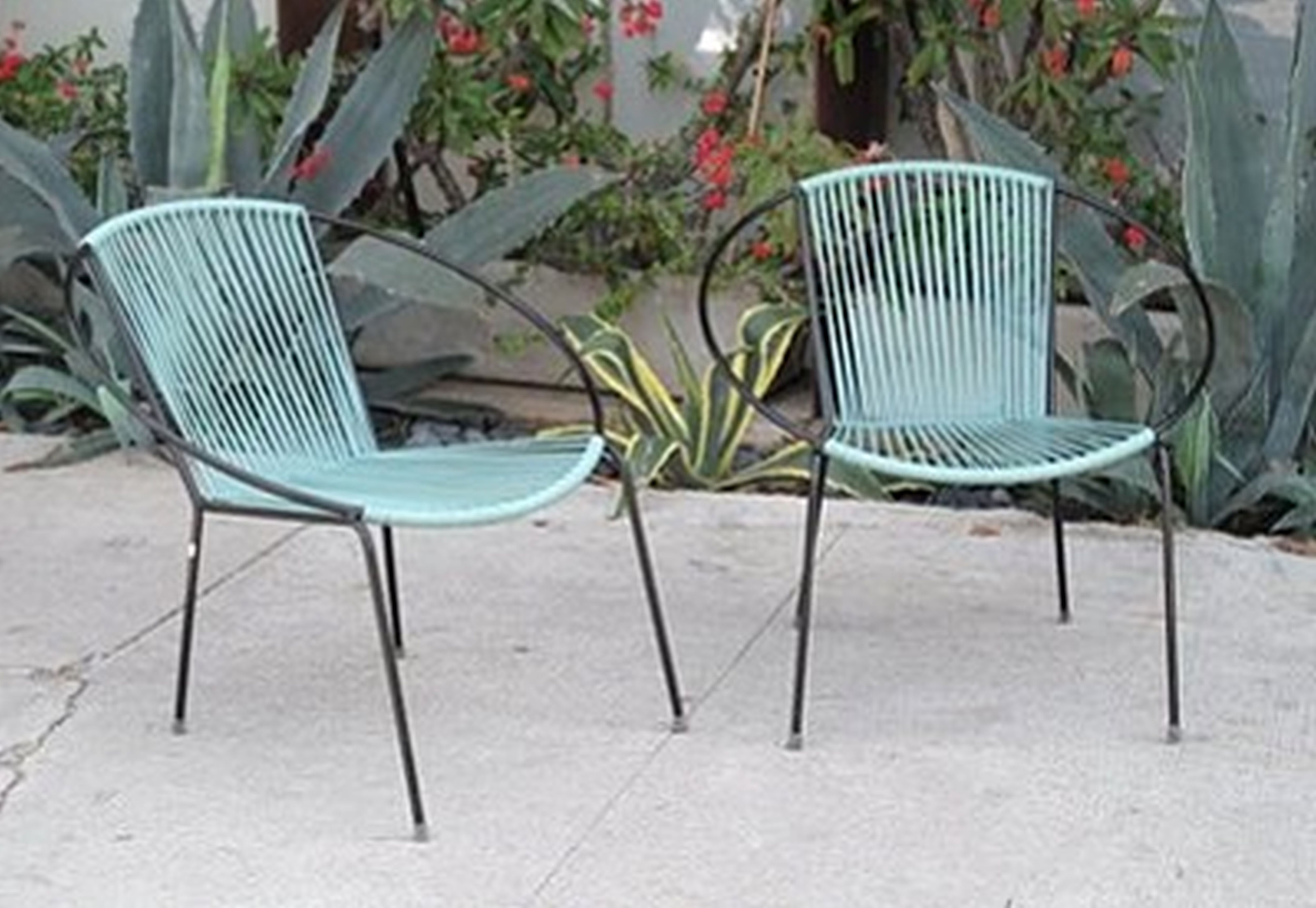 padded design striped and furniture seat outdoor pattern interesting metal square black cushion mesh featuring chairs coffee patio with table