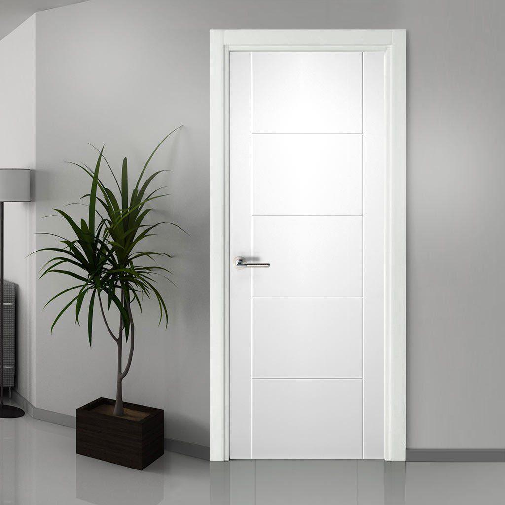 Florida White Primed Flush Door