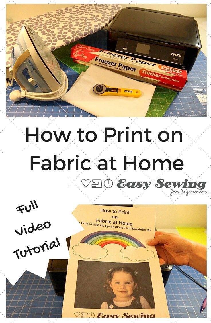 How to Print on Fabric with an Inkjet Printer and Freezer