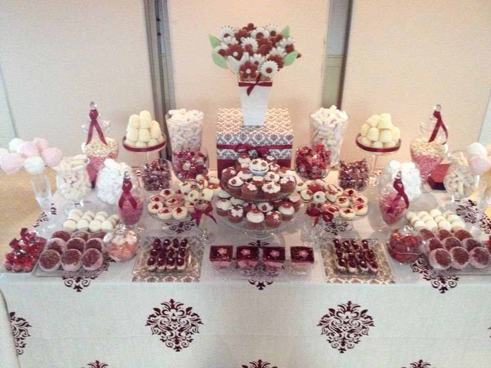 Elegant Burgundy Candy Bar By Cristina Dragna Www