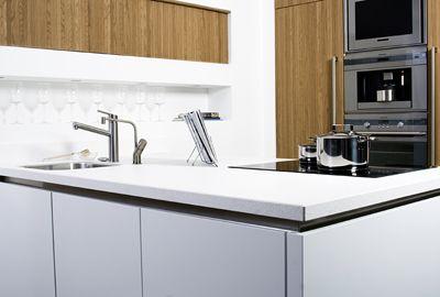 Wit composiet tibosch your favorite worktop pinterest moderne keukens keukens en - Moderne keuken deco keuken ...
