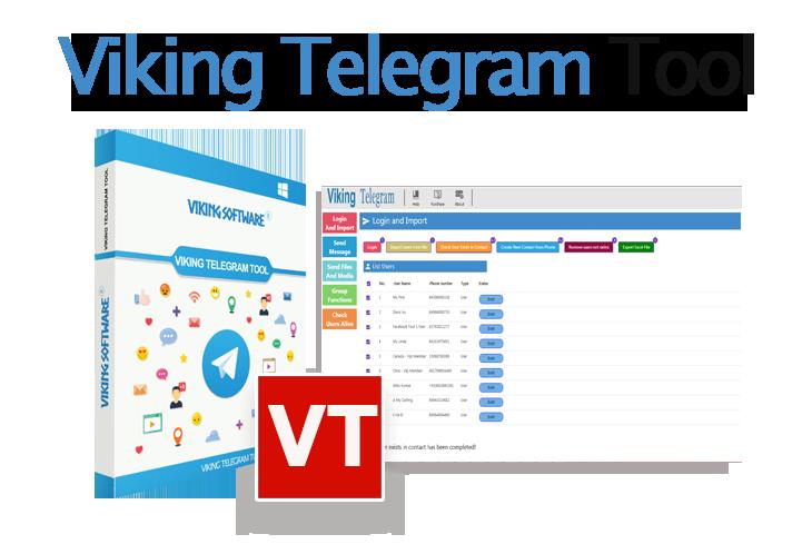 viking telegram tools - telegram group software