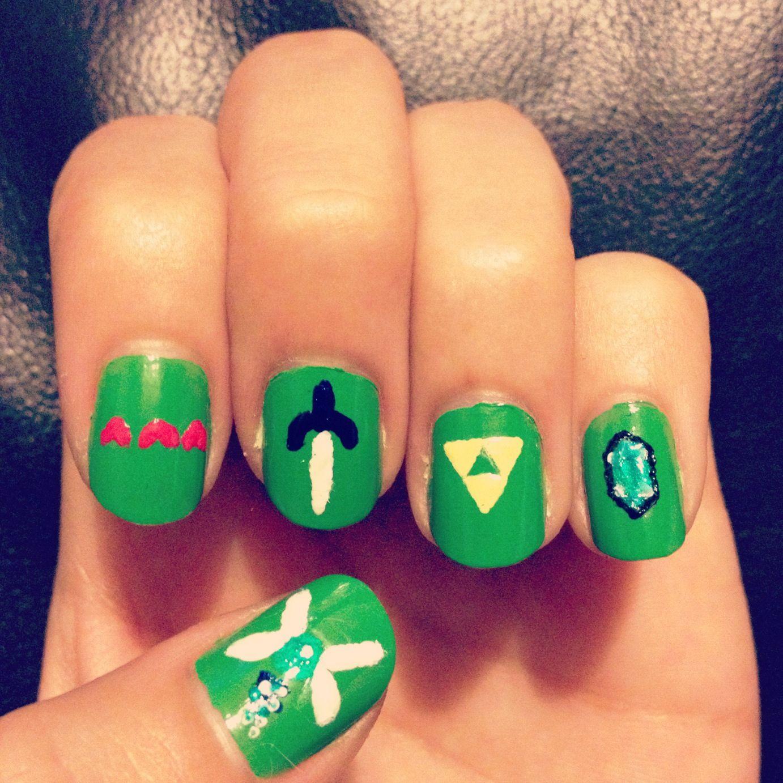My Very Own Legend Of Zelda Nail Art Zelda Nails Pinterest