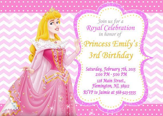 Sleeping Beauty Princess Aurora Invitation By ForLittleKids