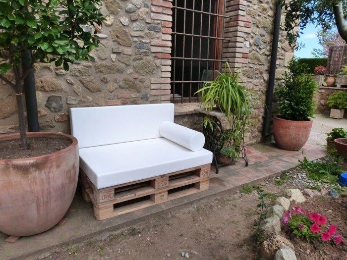 Palettenmöbel für den Garten Möbel aus Paletten Pinterest - gartenbank aus paletten selber bauen