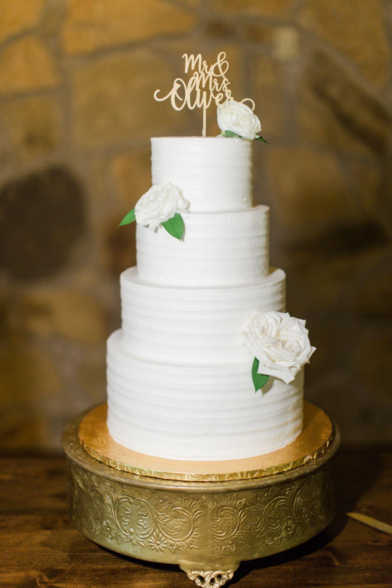 Simple White Wedding Cake Tall White Wedding Cake Round Four