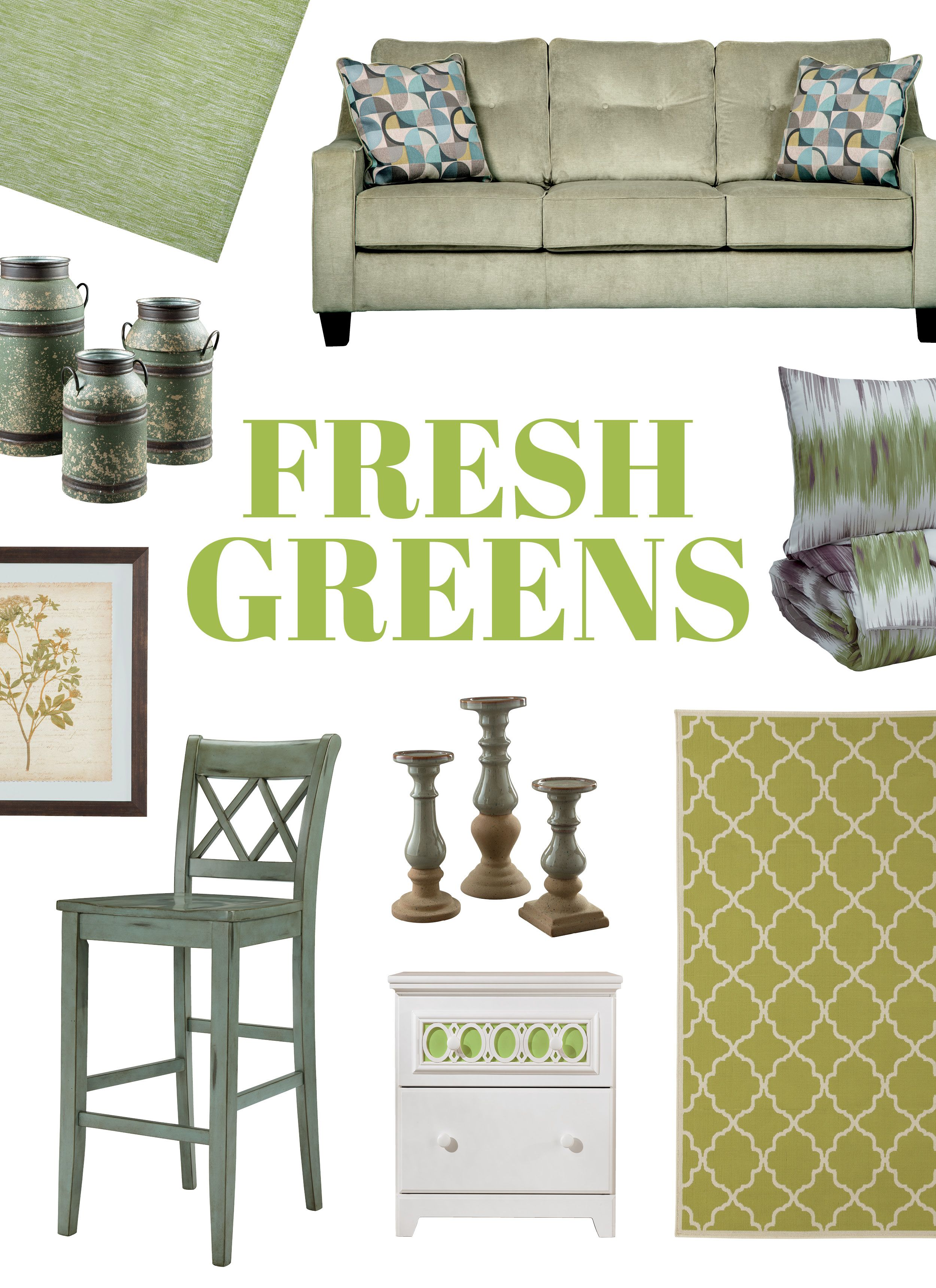 fresh green color inspiration by ashley furniture rh pinterest com
