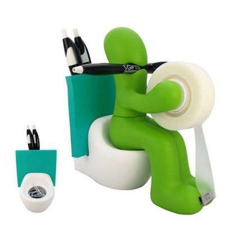 Station accessoires de bureau bonhomme toilette Gadgets utiles
