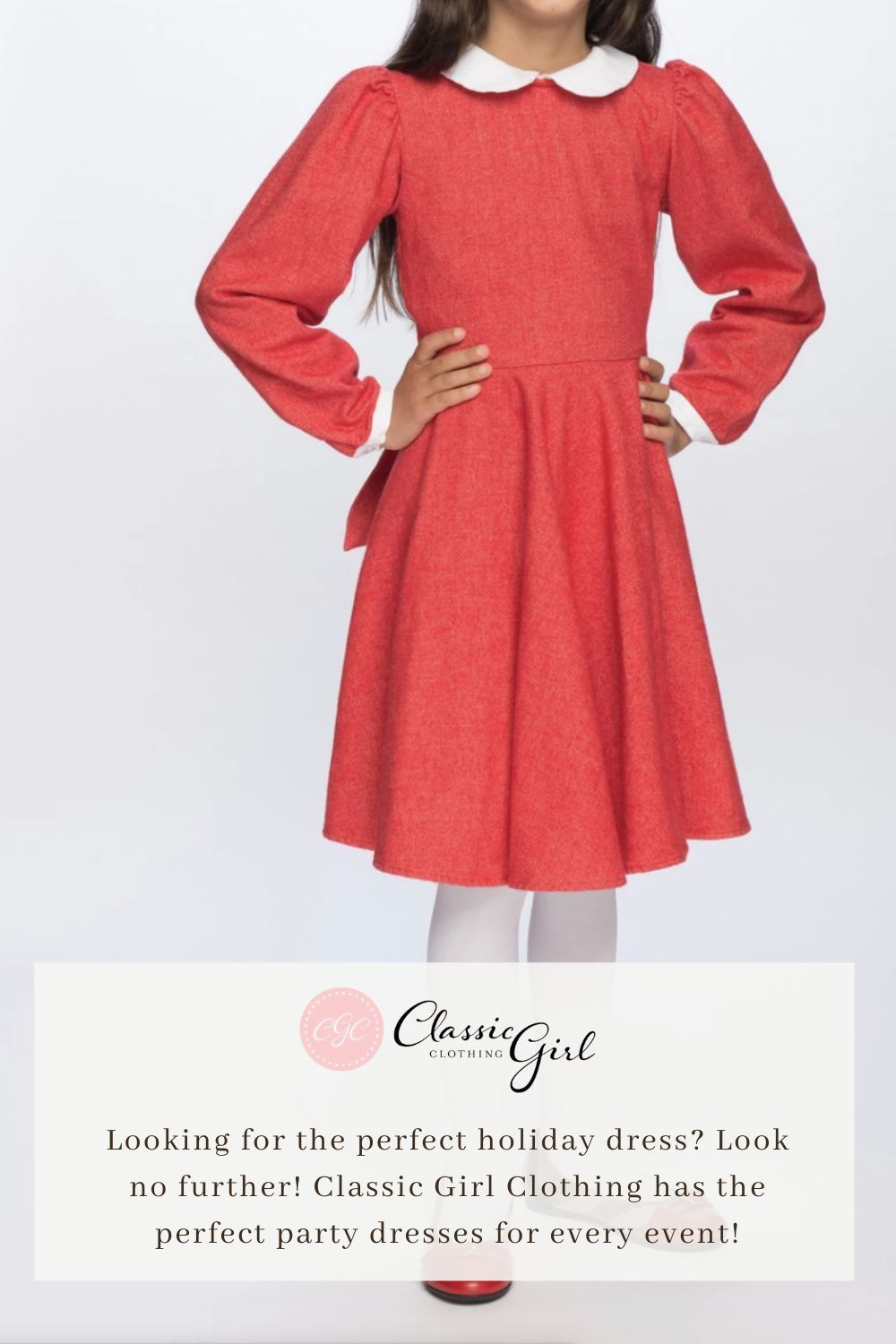 Winter School Days in Red  Girls special occasion dresses, Red