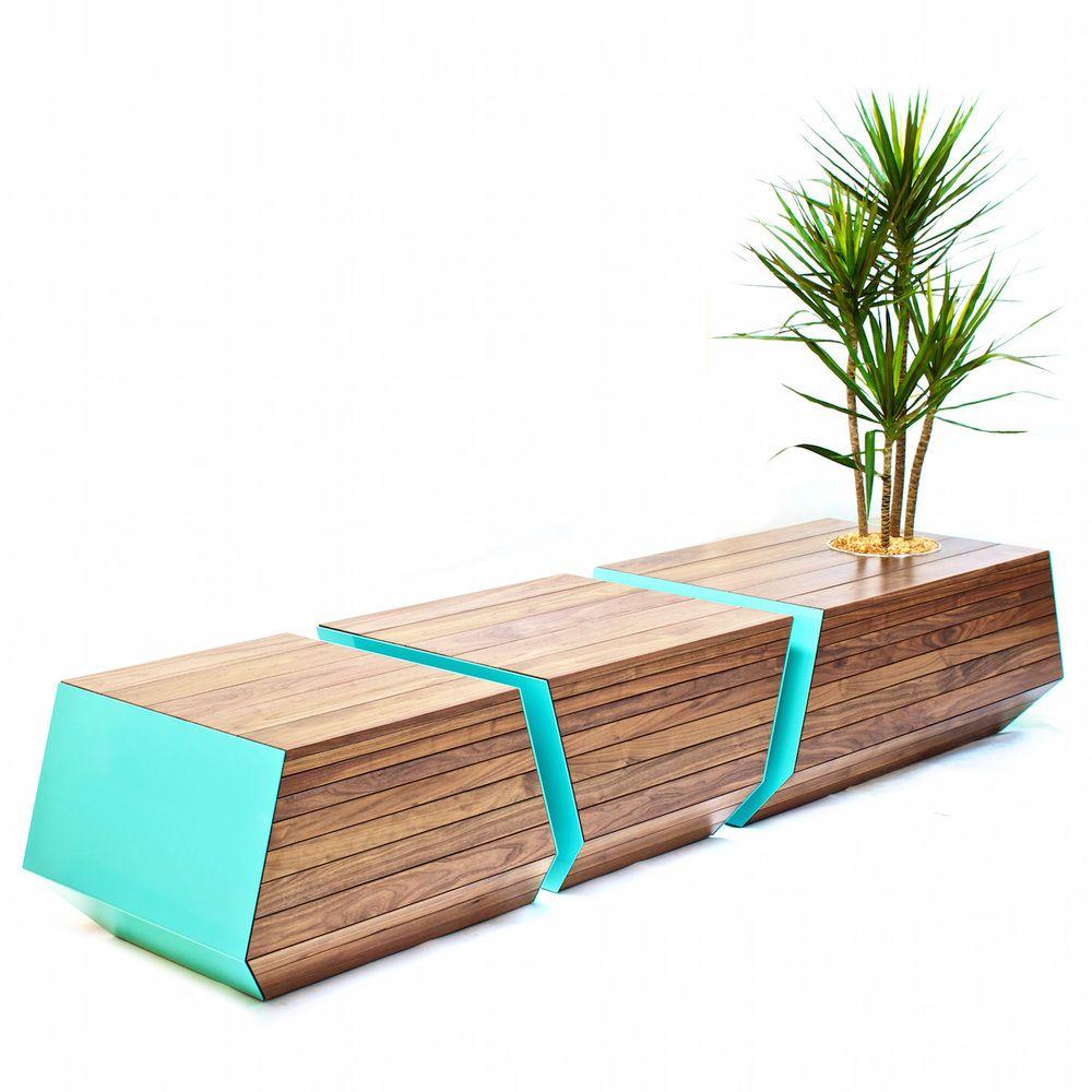 Urban Design Furniture woody bench - shopping mall - mmcité furniture | public space