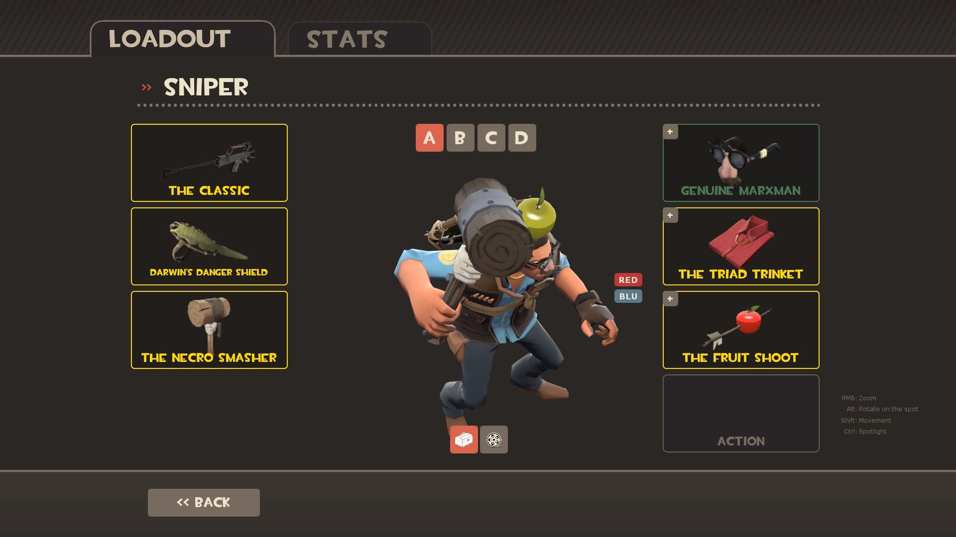 Til the Necro Smasher has a different type of wood depending on the team #games #teamfortress2 #steam #tf2 #SteamNewRelease #gaming #Valve