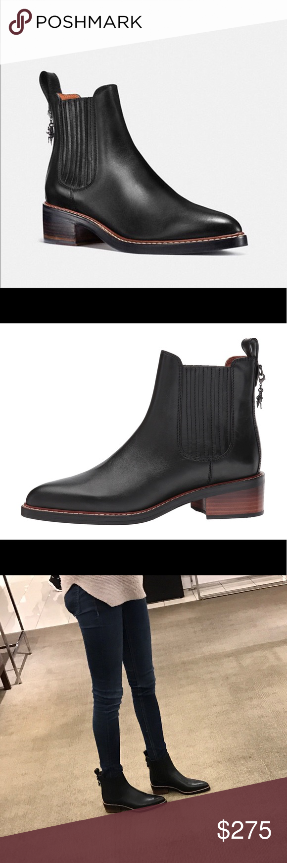 e49bd161b7 50% off coach bowery chelsea ankle booties a4978 794e4