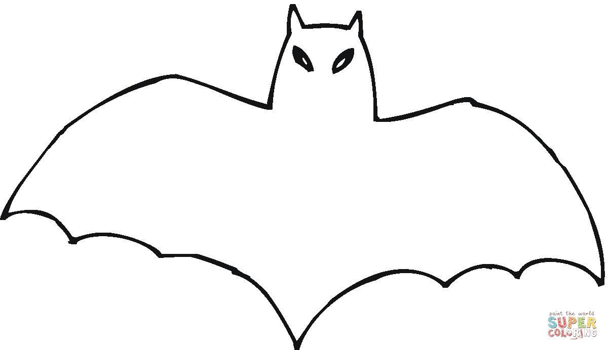 A Bat Outline Coloring Page Supercoloring Com Bat Outline Bat