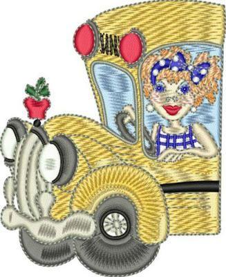 Fun Bus Embroidery Design