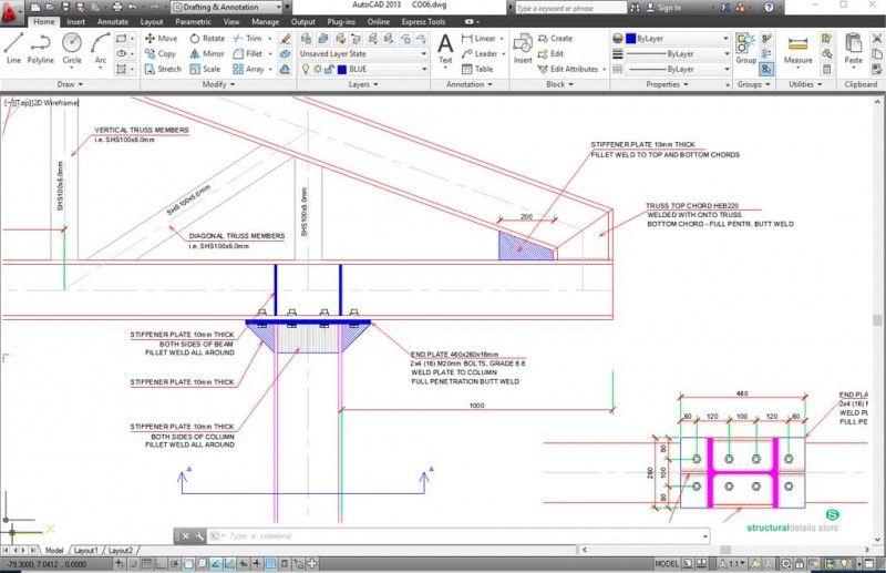 Roof Steel Truss Column Overhang Connection Detail Steel Trusses Steel Roofing Roof Truss Design