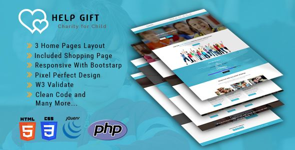 HelpGift - Non-profit, Charity, Fundraising HTML5 Template Html - profit template
