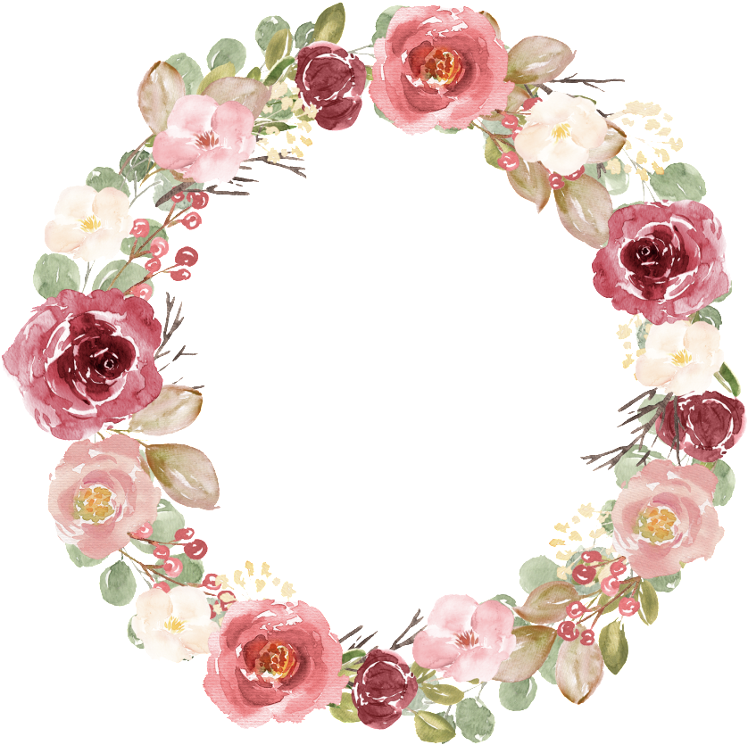 Open Full Size Hand Painted Watercolor Dry Flower Wreath Png Transparent Watercolor Painting Do Watercolor Flower Wreath Dried Flower Wreaths Trendy Flowers