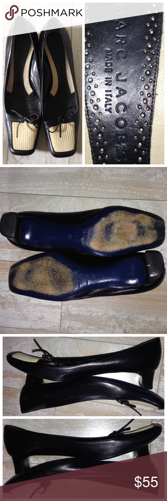 Marc Jacobs Suede  Leather Loafers Pumps Italy Marc Jacobs Multi-color Suede  Leather Loafers Pumps Italy  PreLoved No box  No dust bag  Square / boxed toed  Cream patch is suede  Plenty life left Marc Jacobs Shoes Heels