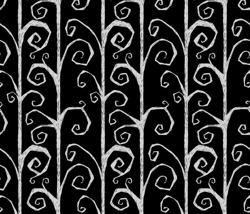 Tim Burton Vines Wallpaper in 2019 Halloween fabric