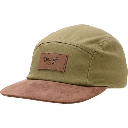 df553566fec The Brixton Cavern olive and brown 5 panel hat has rugged durability to  match its fresh style. Grab a new favorite hat with the olive body