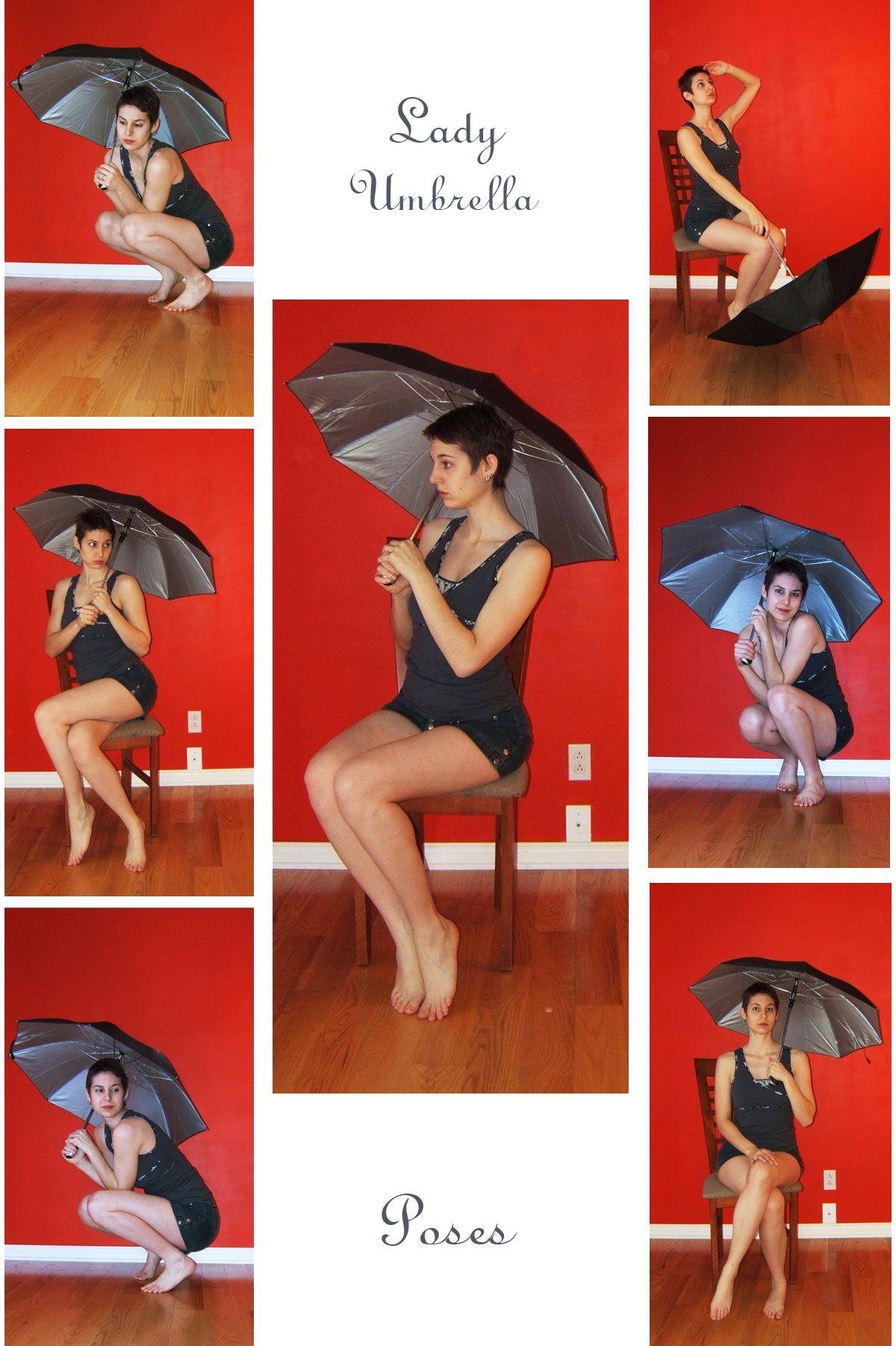 Stock Lady Umbrella Human Poses Reference Pose Reference Photo Pose Reference