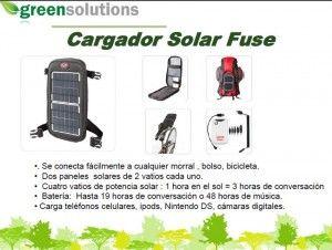 Recarga tu celular con energía solar