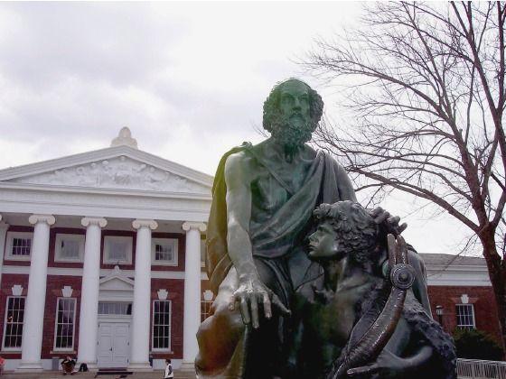 University Of Virginia Homer Statue On The Lawn University Of