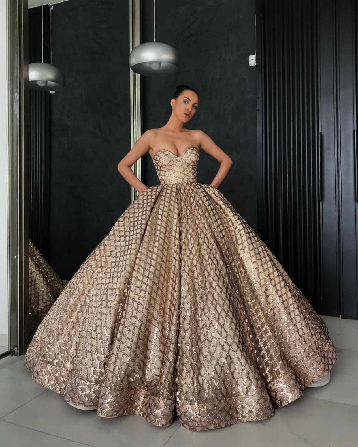 Beautiful Gold Wedding Dresses: Beautiful Gold Lia Stublla Dress