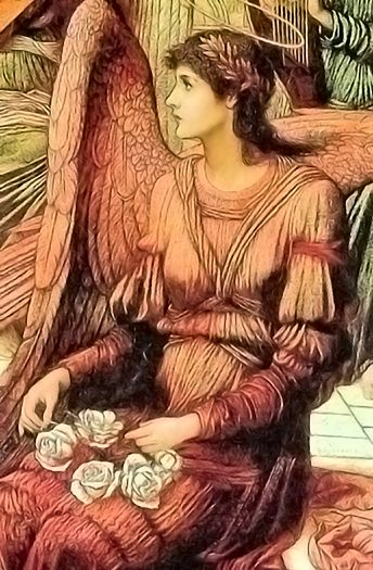 The Ramparts of God's House (detail) by John Melhuish Strudwick