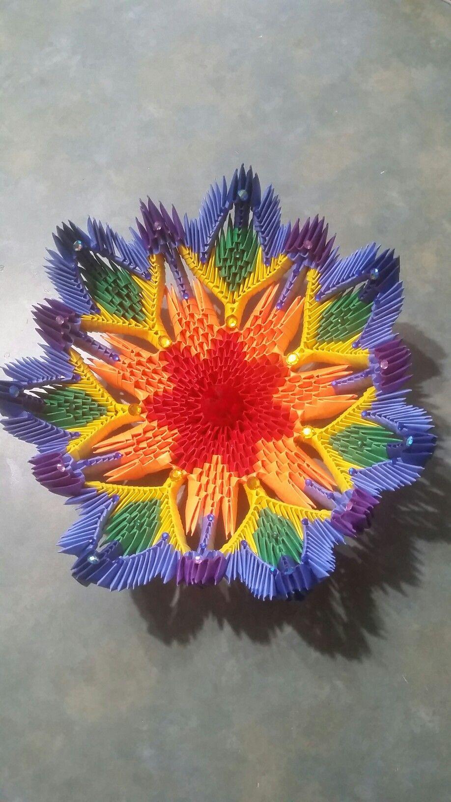 3d origami bowl 3d origami pinterest 3d origami origami and 3d 3d origami bowl jeuxipadfo Images