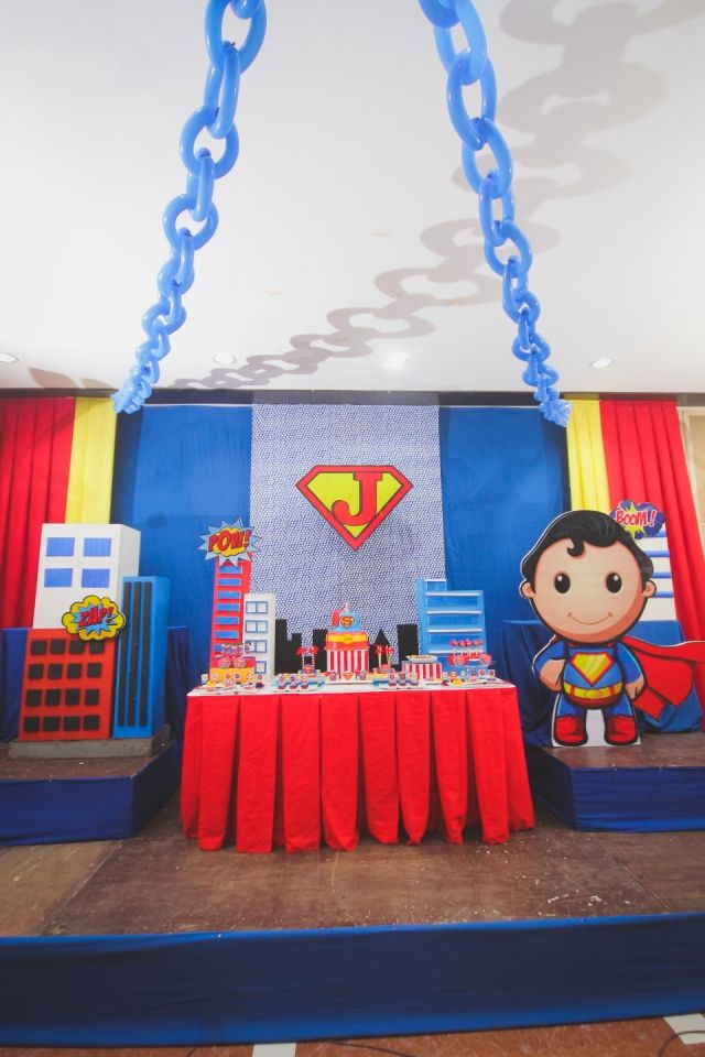Joaquim S Baby Superman Themed Party 1st Birthday Festa