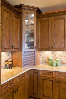 Appliance garage Kitchen, Mediterranean kitchen design