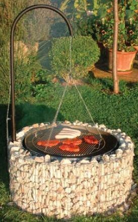 Photo of Fire and grill area 920 x 400 mm, buy gabion grill online at WOONIO