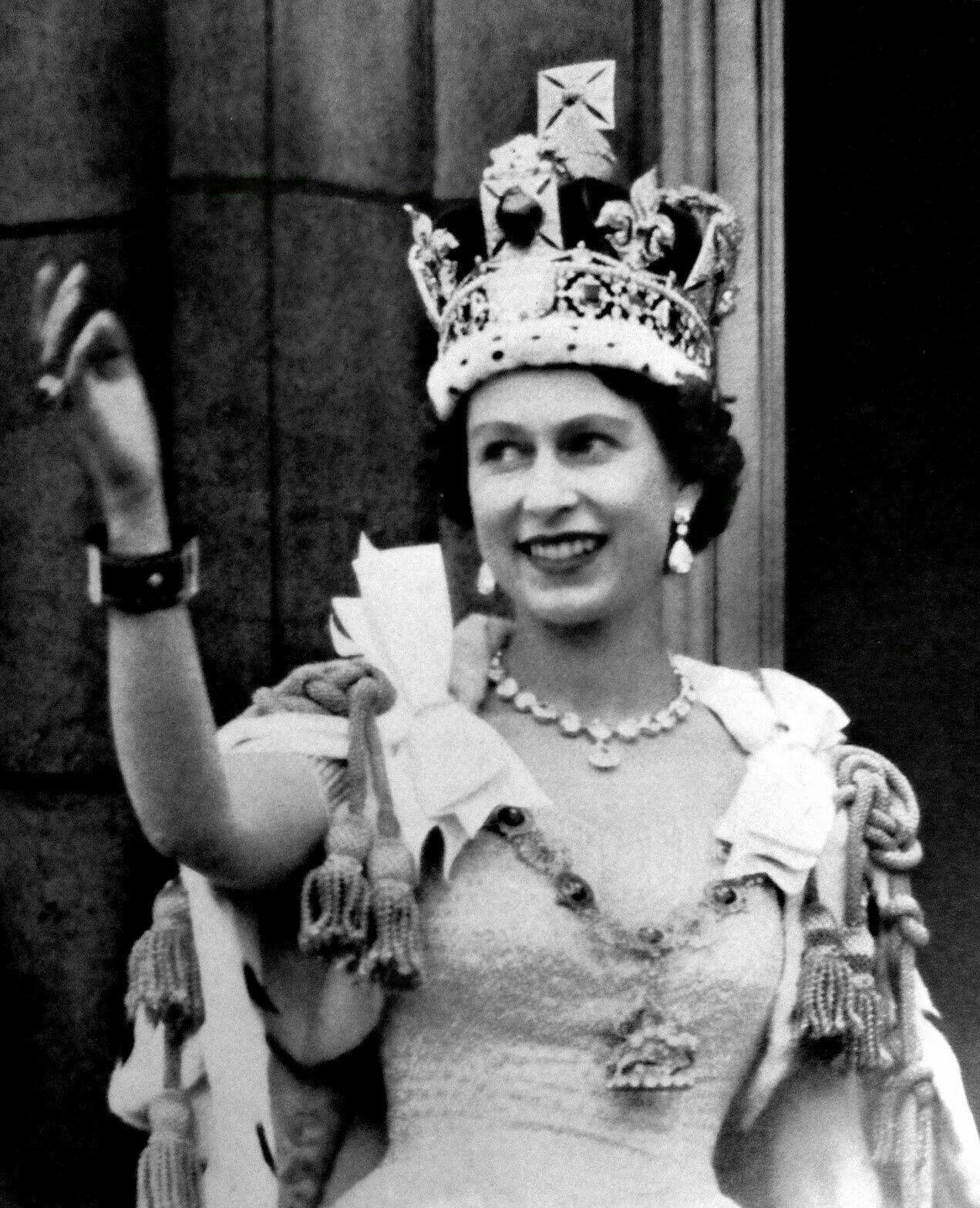 Queen Elizabeth in her younger years. God Save the Queen